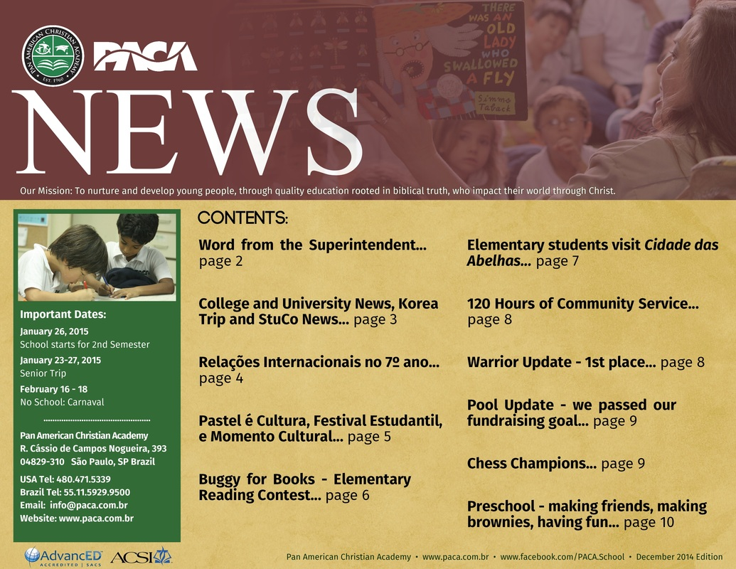 School Newsletter to download and read - December 2014 Edition
