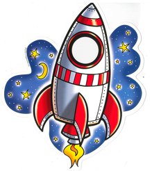 Reading Contest Rocket for Elementary Students